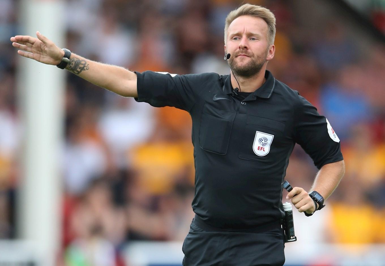 OFFICIALS: Referee Watch Versus Burton Albion