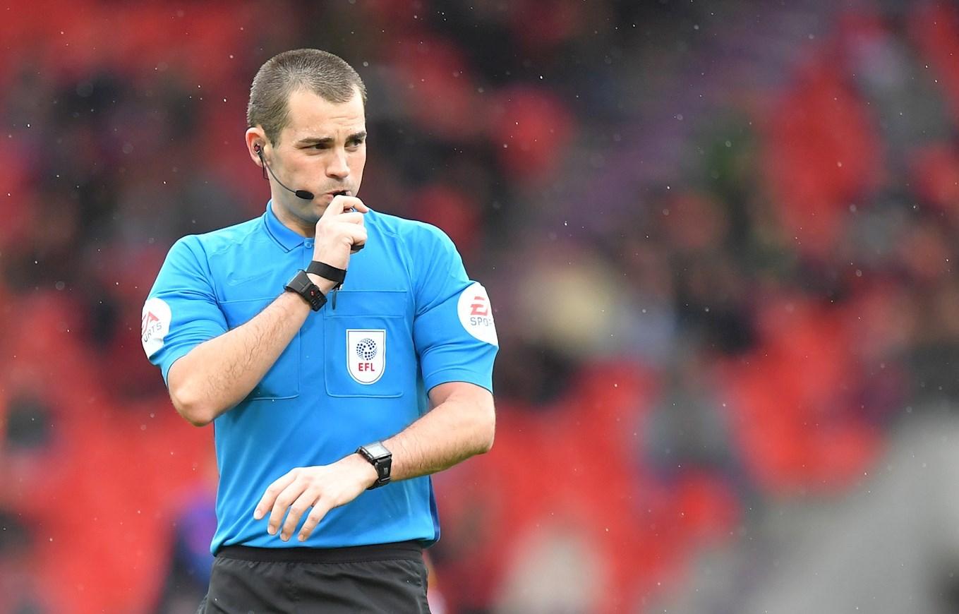 OFFICIALS: Referee Watch Versus Shrewsbury Town