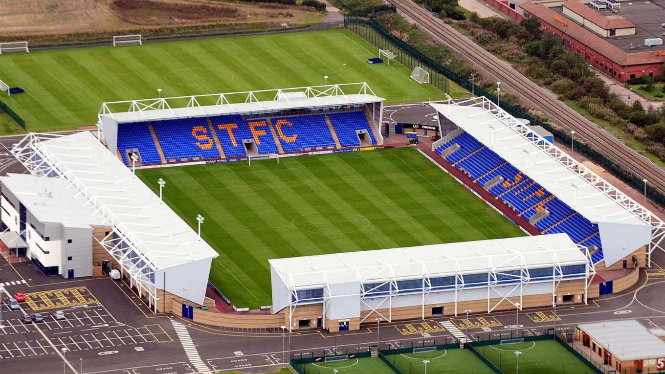 Image result for shrewsbury town ground